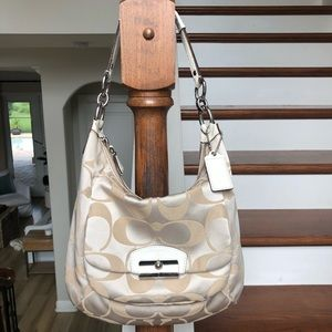{Coach} Signature Cream Handbag
